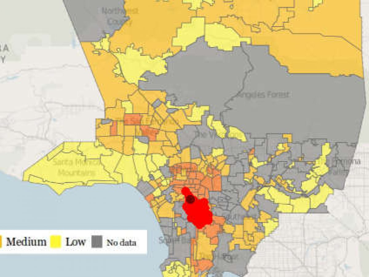 50 Most Dangerous Areas In Los Angeles California Criminal